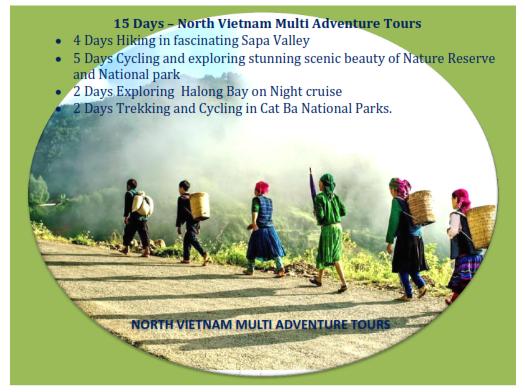 15 DAYS - VIETNAM – OUTDOOR SPORT  TOURS