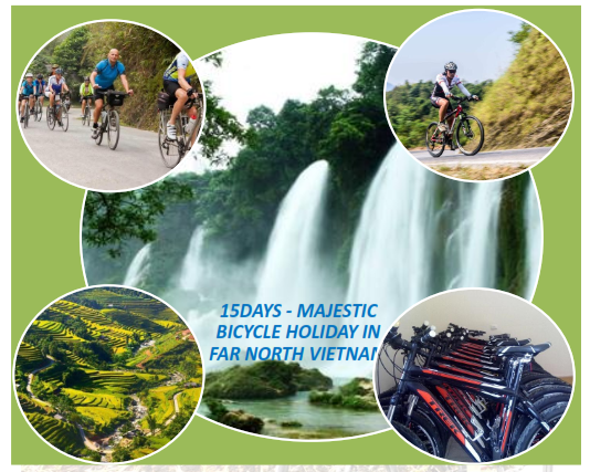 15 DAYS –VIETNAM AMAZING  CYCLING ROUTE