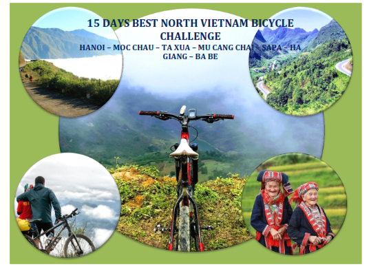 15 DAYS - VIETNAM – NORTH WEST – NORTH EAST  CYCLING TOURS