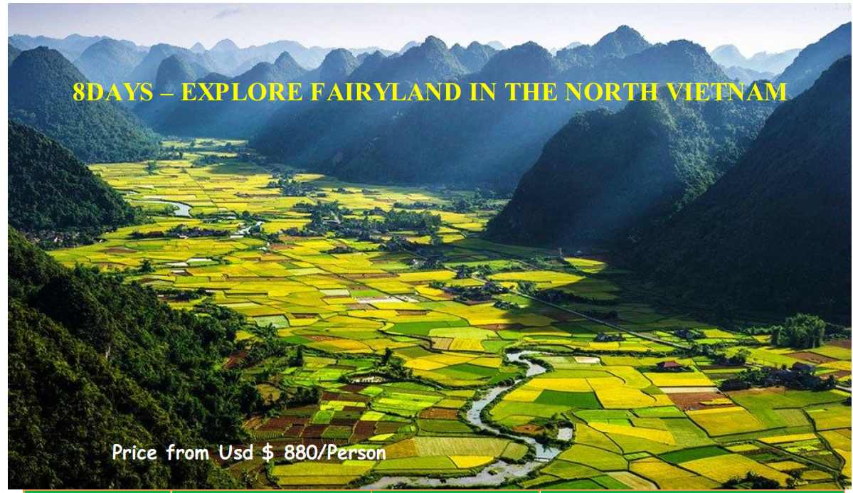 8 DAYS – EXPLORE FAIRYLAND IN THE NORTH VIETNAM