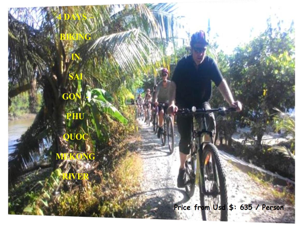 04 DAYS – BIKING EXPERIENCE IN SAI GON  -  PHU QUOC  MEKONG RIVER DELTA
