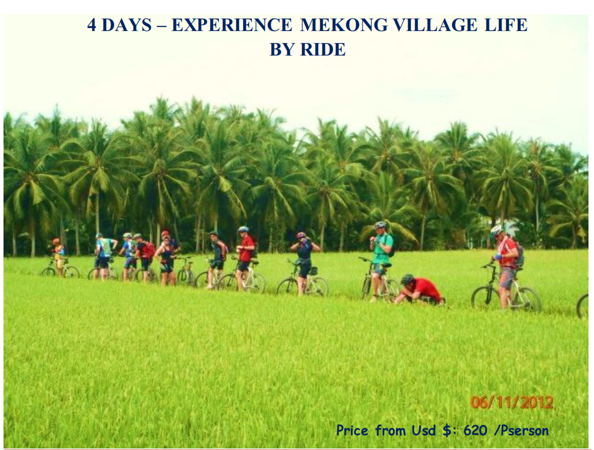 04 DAYS – EXPERIENCE MEKONG VILLAGE LIFE BY RIDE