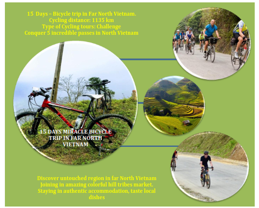 15 DAYS MIRACLE BICYCLING TRIP IN FAR NORTH VIETNAM