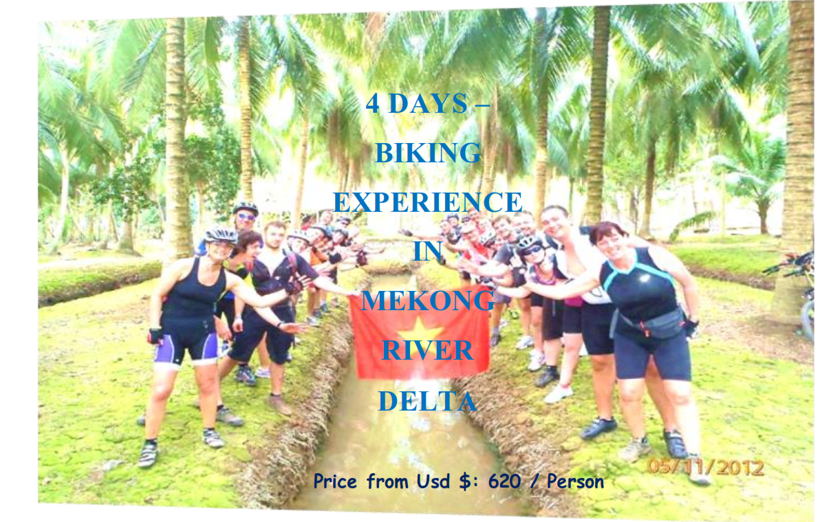 04 DAYS – BIKING EXPERIENCE  IN MEKONG  RIVER DELTA