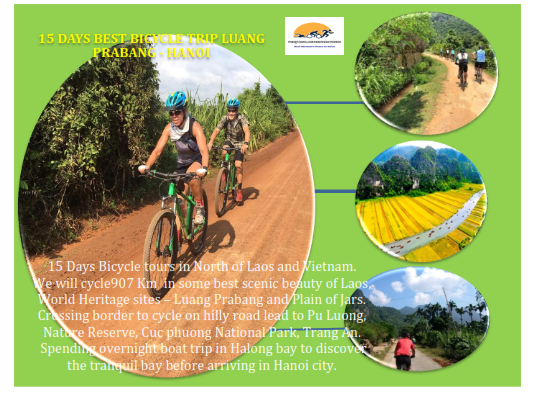 15 DAYS  CYCLING ADVENTURE TOUR  LUANG PRABANG – HANOI  CROSS BORDER