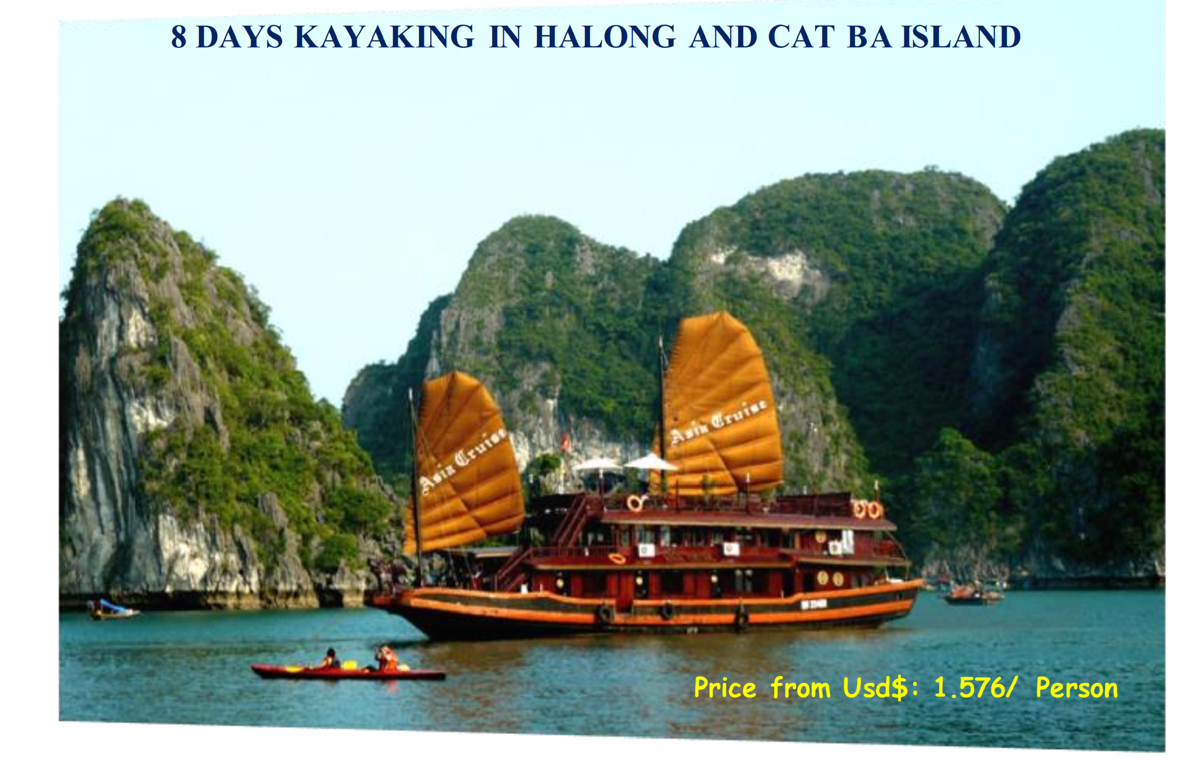 08 DAYS KAYAKING IN HALONG AND CAT BA ISLAND